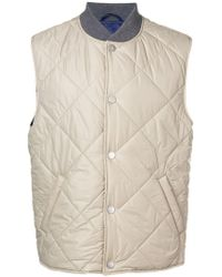 Eleventy - Press Stud Quilted Gilet - Lyst