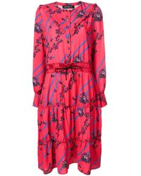 Department 5 - Printed Tiered Midi Dress - Lyst