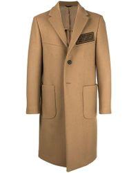 Fendi - Embellished Single Breasted Coat - Lyst