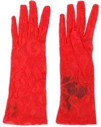 Gucci Gloves Pearl Nappa Leather Bronze - Lyst 91e9486f9bd