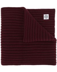 Stone Island - Thick Ribbed Knit Scarf - Lyst