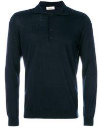 Laneus - Long Sleeve Polo Shirt - Lyst