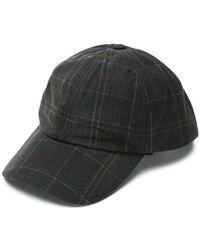 Barbour - Cappello da baseball con motivo tartan - Lyst d7e5ea6e5a44