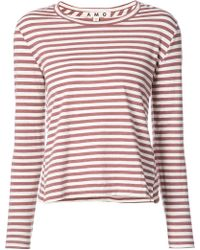 AMO - Striped T-shirt - Lyst