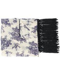 Forte Forte - Floral Print Fringed Scarf - Lyst