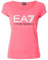 EA7 - Logo Print T-shirt - Lyst