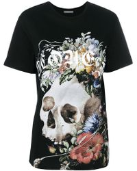 Alexander McQueen - Floral Skull Print T-shirt - Lyst