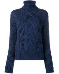 Jacob Cohen - Cable Knit Turtleneck Sweater - Lyst