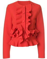MSGM - Ruffle Fitted Jacket - Lyst