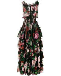 Dolce & Gabbana Floral Print Evening Dress