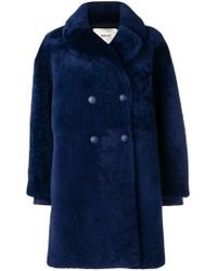 Bally - Double Breasted Midi Coat - Lyst