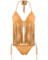 Fisico - Frayed Triangle Bikini Set - Lyst