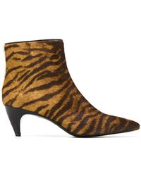 Twin Set - Tiger Print Booties - Lyst