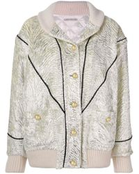 Alessandra Rich - Front Button Bomber Jacket - Lyst