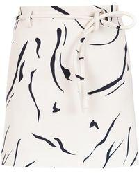 Egrey - Printed Flared Skirt - Lyst