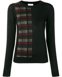 Sonia Rykiel - Logo Fitted Sweater - Lyst