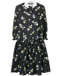 Vivetta - Embellished Collar Floral Print Dress - Lyst