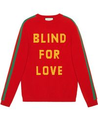 """Gucci - """"blind For Love"""" And Bee Wool Sweater - Lyst"""