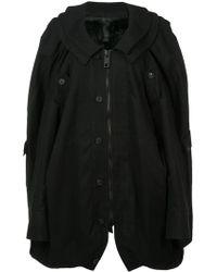 Vera Wang - Oversized Military Coat - Lyst