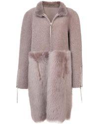 Oscar de la Renta | Zipped Fur Coat | Lyst