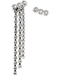 Isabel Marant - Asymmetric Crystal Drop Stud Earrings - Lyst