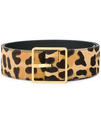 Rochas Cinturón con estampado de leopardo