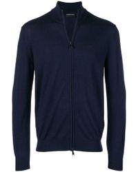 Emporio Armani - Zip-up Cardigan - Lyst