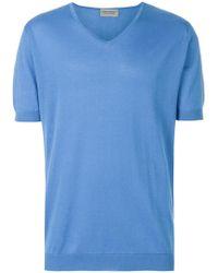 John Smedley - Short Sleeve V-neck Sweater - Lyst