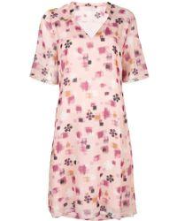 Kristina Ti - Geometric Print Mini Dress - Lyst