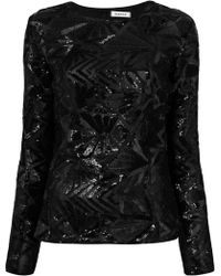 P.A.R.O.S.H. - Sequin Blouse - Lyst