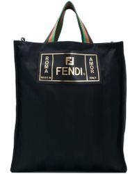 Fendi - Striped Shopper Tote - Lyst