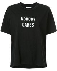 Nobody Denim - Nobody Cares Slogan T-shirt - Lyst