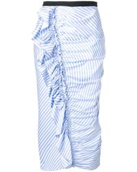 Antonio Marras - Striped Frill Pencil Skirt - Lyst