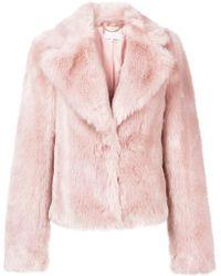 Patrizia Pepe - Furry Cropped Jacket - Lyst