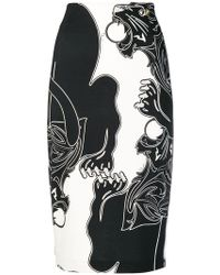 Class Roberto Cavalli - Lion Print Pencil Skirt - Lyst