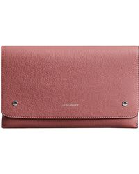 Burberry - Two-tone Leather Wristlet Clutch - Lyst