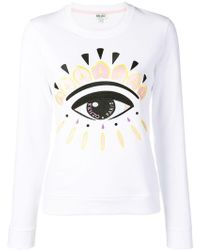 KENZO - Evil Eye Embroidered Sweatshirt - Lyst
