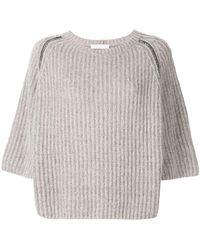 Fabiana Filippi - 3/4 Sleeve Chunky Sweater - Lyst