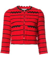 Sonia Rykiel - Striped Cropped Jacket - Lyst
