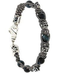 Emanuele Bicocchi - Beads And Skulls Bracelet - Lyst