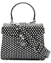 42f994044fba Dolce   Gabbana Small Polka Dot Print Shoulder Bag in White - Lyst