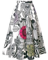 Junya Watanabe - Midirock mit Print - Lyst