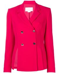 Genny - Double Breasted Blazer - Lyst