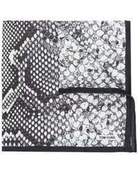 Tom Ford - Snakeskin Print Scarf - Lyst