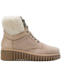 Loriblu - Leather And Fur Trim Ankle Boots - Lyst