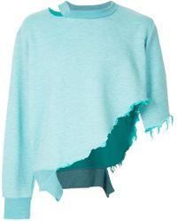 Facetasm - Asymmetric Sweatshirt - Lyst