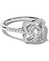 De Beers - 18kt White Gold Enchanted Lotus Diamond Ring - Lyst