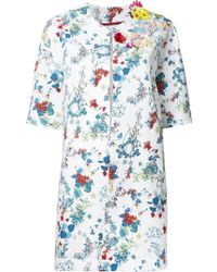 Antonio Marras - Floral Print Coat - Lyst