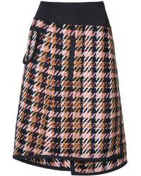 Public School - Shula Layered Plaid Skirt - Lyst