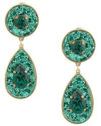 Shourouk - Shimmer Drop Earrings - Lyst